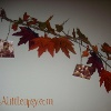 Autumn Leaf and Picture Garland