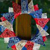 Patriotic Bandanna Wreath