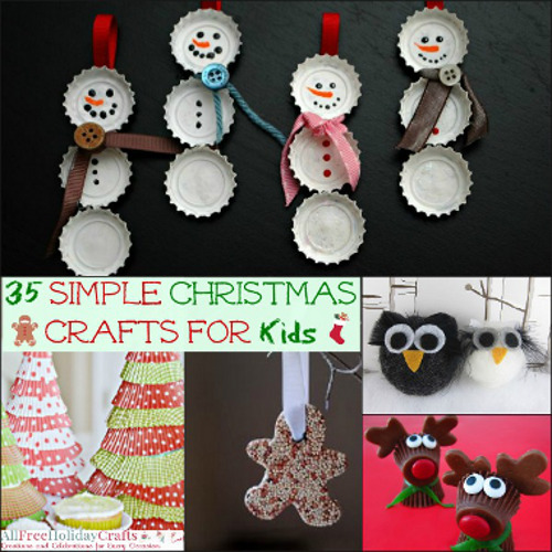 35 Simple Christmas Crafts for Kids