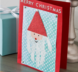 Merry Christmas Handprint Card
