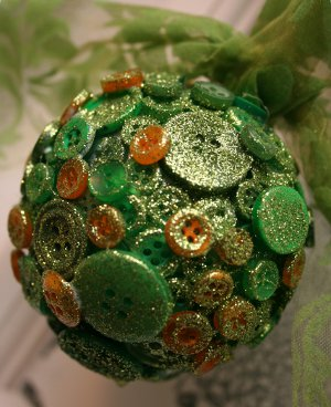 Buttons and Sparkles Ornament