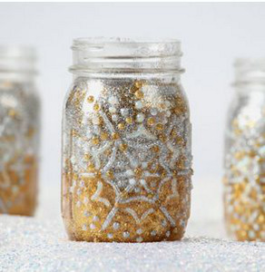 Light Up The Night Glitter Jar