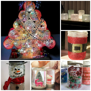 26 mason jar crafts for christmas for All free holiday crafts