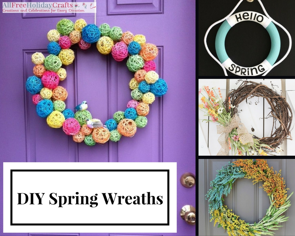 Recycled shopping bag wreath for All free holiday crafts