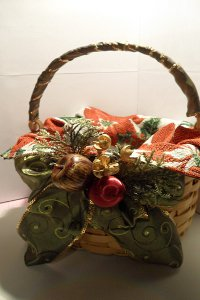 Festive Embellished Christmas Basket