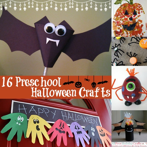 16 Preschool Halloweeen Crafts