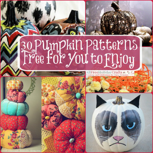 30 Pumpkin Patterns Free for You to Enjoy