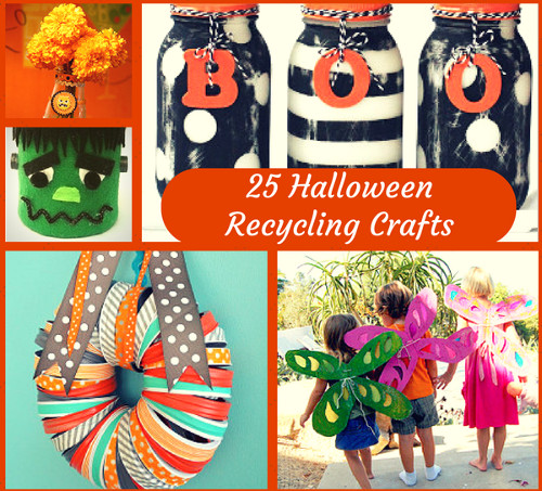 """Go Green"" for Halloween: 25 Halloween Recycling Crafts"