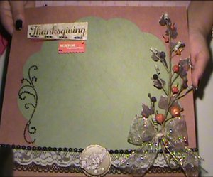 How to Make a Thanksgiving Scrapbook Layout