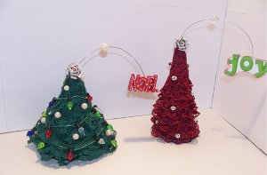 Mini Lace Christmas Tree Tutorial