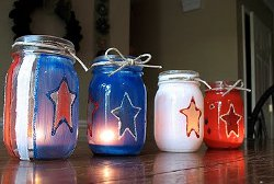 Patriotic Painted Luminaries
