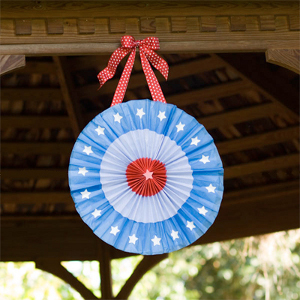 Patriotic Paper Pinwheels Fourth of July Party Ideas as American as Apple Pie