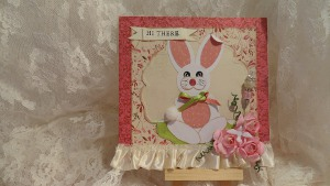Punchy Easter Bunny Card