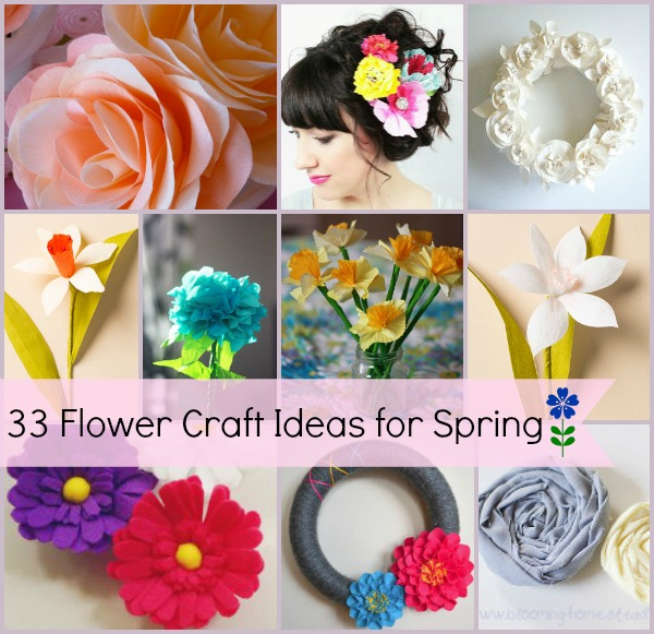 30 Flower Craft Ideas for Spring
