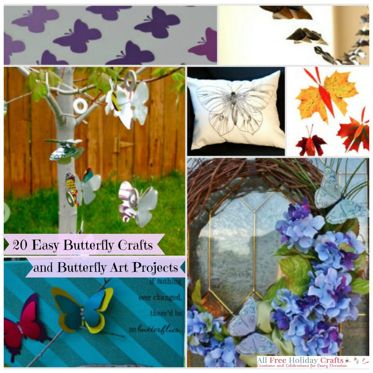 20 easy butterfly crafts and butterfly art projects for All free holiday crafts