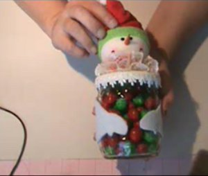 Sweet Snowman Candy Jar