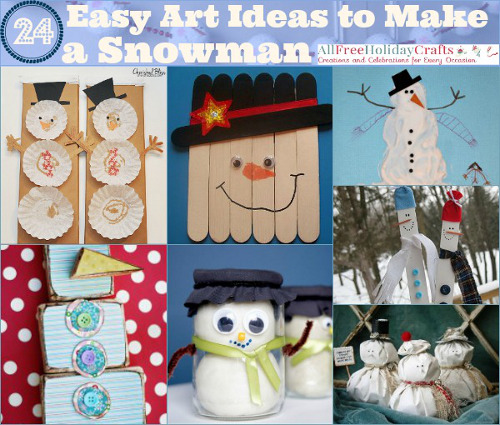 22 Easy Art Ideas to Make a Snowman