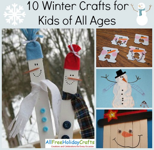 12 winter crafts for kids of all ages for Fun crafts for all ages