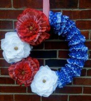 Ruffly Patriotic Wreath